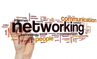 Networking word cloud concept